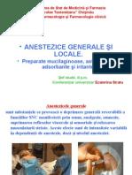 Anestezicele Generale Şi Locale
