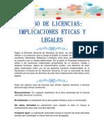 El Uso de Licencias Implicaciones Eticas y Legales