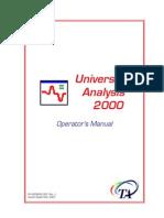 TA Universal Analysis manual
