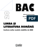 Limba Si Lit Romana BAC 2016 Fragment
