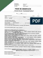 Foaia de Observatie a Bolnavului Parodontopat