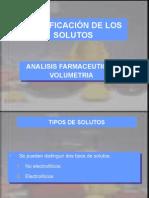 Clasificacion de Solutos D.R.