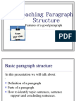 Paragraph Structure(Week 3)