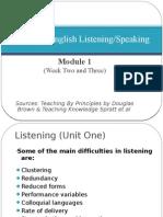 Teaching English Listening - Module One Final)
