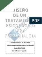 Diseno de Un Tratamiento Psicologico Para Fibromialgia