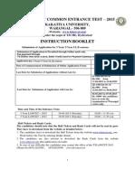 Instructions Booklet for TSLAWCET