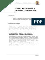 CIRCUITO LIMITADORES Y ENCLAVADORES CON DIODOS