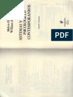 Sistemas y Teorias Psicologicos Contemporaneos