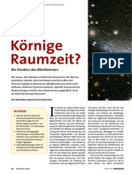 Körnige  Raumzeit? Die Struktur des Allerkleinsten