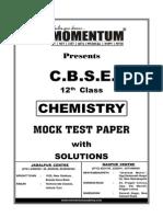 CBSE Chemistry 12th Mock Test Paper Sol
