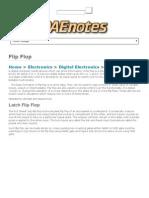 Flip Flops, R-S, J-K, Clocked R - DAEnotes