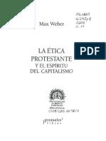 La Ética Protestante y El Espíritu Del Capitalismo - Weber