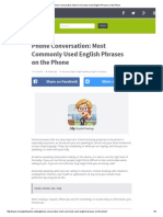 Phone Conversation_ Most Commonly Used English Phrases on the Phone