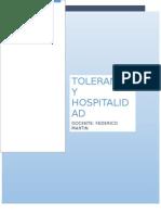 Tolerancia y Hospitalidad