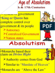 Absolutism Unit Powerpoint