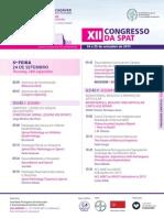 Programa SPAT XII Congresso 2015