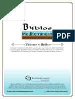 Byblos Mediterranean Lebanese Restaurant Menu