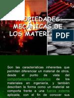 Propiedades de la Mecánica de materiales