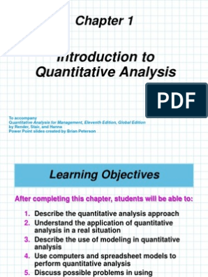 Chapter 1 Introduction to Quantitative Analysis   Level Of