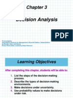 Chapter 3 & 4 Decision Analysis