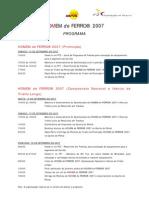 Programa HOMEM de FERRO2007