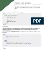 Javascript Void Keyword