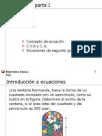 Ecuaciones I