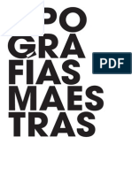 Tipografías maestras