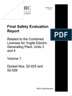 NUREG-2124, Volume 1 (Final SER for Vogtle Units 3 and 4)