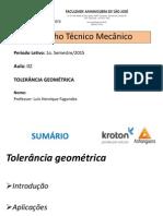 Desenho Técnico Mecânico - Aula 02 - Tolerância Geométrica