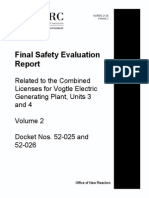 NUREG-2124, Volume 2 (Final SER for Vogtle Units 3 and 4)