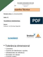 Desenho Técnico Mecânico - Aula 01 - Tolerância Dimensional