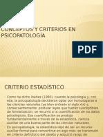 Criterios y Enfermedad Mental Psicopatología Clase