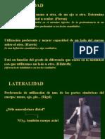 Lateralidad educacion fisica