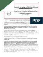 Convocatoria para exposición fotográfica y audiovisual de la XI Reunión de Antropología del Mercosur (RAM).