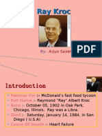 PPT on Ray Kroc
