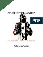CAN-AM FOOTBALL ACADEMY-Performance Nutrition Manual