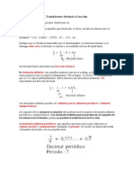Transformar Decimal a Fracción 6° basico