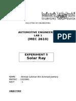 auto lab - solar ray report.docx