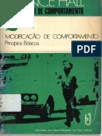 LIVRO Manipulação Do Comportamento 2, Modificação de Comportamento, Princípios Básicos - R. Vance Hall