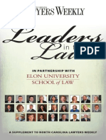 North Carolina Lawyers Weekly — Leaders in the Law