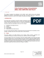 Anzca Internet Email and Computer Use Policy 20111121