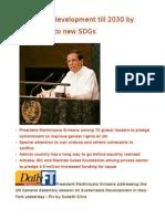 SL Sets Out Development Till 2030