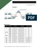 Lab 3.5.2 Subnetting Scenario 1