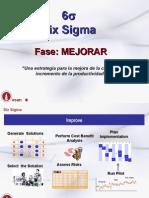 Fase Mejorar Six Sigma