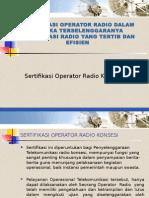 Sertifikasi Operator