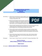 UU 36-1999 Telekomunikasi