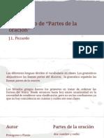 Partes de La Oracion - Piccardo Power Point (1)