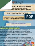 INTERVENCION PSICOPEDAGOGICA