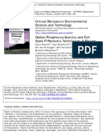 Global Phosphorus Scarcity and Full-Scale P-Recovery Techniques- A Review